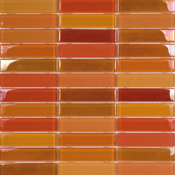 Metallic Glacier Mix Naranjas 2-3x9-8 | Glass mosaics | Porcelanosa