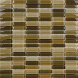 Metallic Glacier Mix Tierra 1-5x5 | Glass mosaics | Porcelanosa
