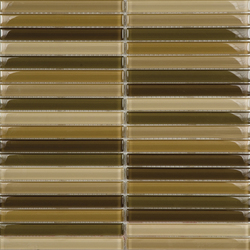 Metallic Glacier Mix Tierra 1-5x15 | Glass mosaics | Porcelanosa