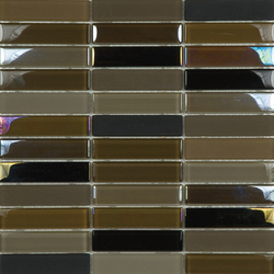 Metallic Glacier Mix Tobacco 2-3x9-8 | Glass mosaics | Porcelanosa