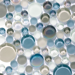 Metallic Glacier Moon Cremas | Glass mosaics | Porcelanosa