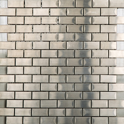 Noohn Metal Mosaics Brick Acero | Metal mosaics | Porcelanosa