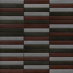 Noohn Metal Mosaics Acero Niquel Cobre | Mosaici in metallo | Porcelanosa