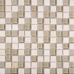 Noohn Stone Glass Mosaics Mix Glacier Crema | Mosaïques en verre | Porcelanosa