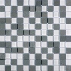 Noohn Stone Glass Mosaics Mix Glacier Nieve | Glass mosaics | Porcelanosa