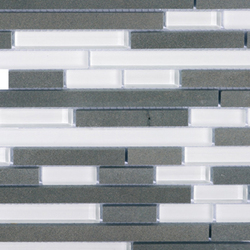 Noohn Stone Glass Mosaics Strip Mix Glacier Nieve | Mosaïques verre | Porcelanosa