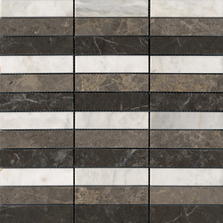 Pulidos Linear Habana Grey Brown Bco | Mosaïques en pierre naturelle | Porcelanosa