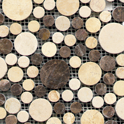 Pulidos Moon Mix Browns | Mosaïques en pierre naturelle | Porcelanosa