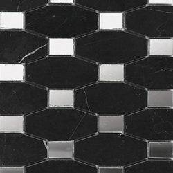 Victorian Chain Negro Marquina Mirror | Mosaike | Porcelanosa