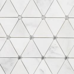 Victorian Diamond Bco Marmara Mirror | Natural stone mosaics | Porcelanosa