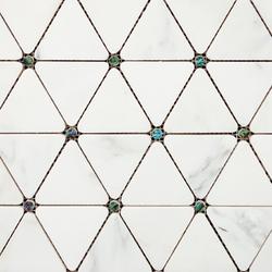Victorian Diamond Blanco Marmara Pearl | Natural stone mosaics | Porcelanosa