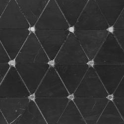 Victorian Diamond Negro Marquina Mirror | Natural stone mosaics | Porcelanosa