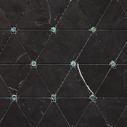 Victorian Diamond Negro Marquina Pearl | Natural stone mosaics | Porcelanosa