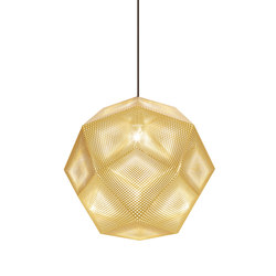 Etch Pendant Brass 50cm | Iluminación general | Tom Dixon