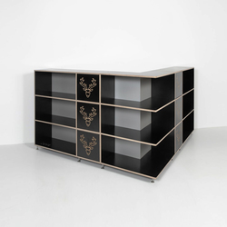 Tius 03 corner nero ornament | Shelving | Plan W