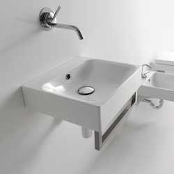 Cento Washbasin + towel holder | Meubles lavabos | Kerasan