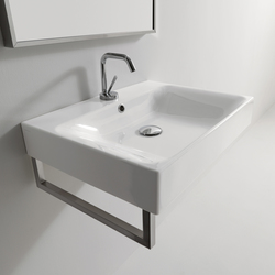 Cento Deep washbasin + towel holder | Vanity units | Kerasan