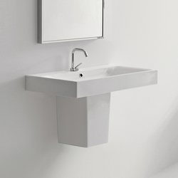 Cento Washbasin + semi pedestal | Wash basins | Kerasan