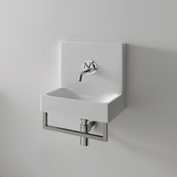 Cento Fountain style washbasin + towel holder | Lavabos mueble | Kerasan