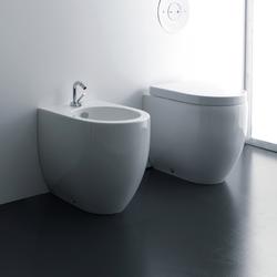 Flo Btw wc pan + bidet 48 cm | Toilets | Kerasan