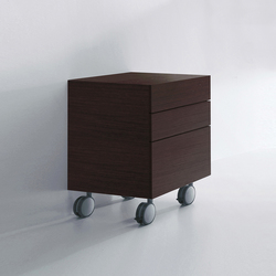 Units Wengè drawers chest with 3 drawers | Wall cabinets | Kerasan