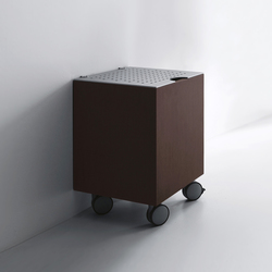 Units Wengè basket/stool with aluminium top | Wall cabinets | Kerasan