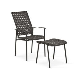 Nizza highback with footrest | Poltrone da giardino | Fischer Möbel