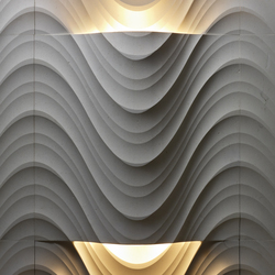 Le Pietre Incise | Seta curve luce | Natural stone panels | Lithos Design