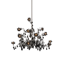 Jewel Chandelier pendant light 12-black | Iluminación general | HARCO LOOR