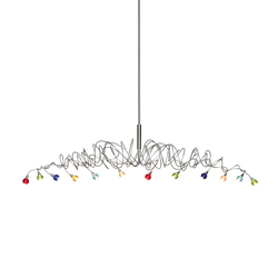 Sweet – Long pendant light 12-multicolor | Suspended lights | HARCO LOOR