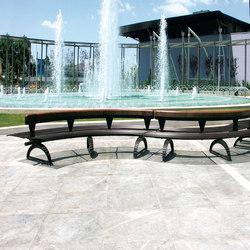 Libre Double Settore | Exterior benches | Metalco