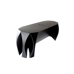 NOOK bench black | Restaurant seating systems | VIAL