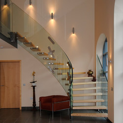 Mistral Curve | Glass stairs | Siller Treppen