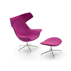 Oyster easy chair/footstool | Fauteuils d'attente | OFFECCT
