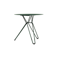 Tio Circular Café Table Metal | Cafeteria tables | Massproductions