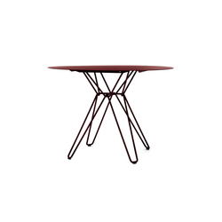Tio Circular Dining Table Metal | Mesas para restaurantes | Massproductions