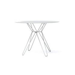 Tio Circular Dining Table Laminate | Restauranttische | Massproductions