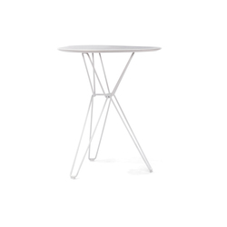 Tio Triangular Café Table Laminate | Cafeteriatische | Massproductions