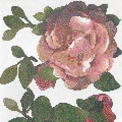 Springrose Bianco A mosaic | Glass mosaics | Bisazza
