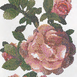 Springrose Bianco B mosaic | Glass mosaics | Bisazza