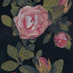Springrose Nero A mosaic | Glass mosaics | Bisazza
