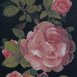 Springrose Nero B mosaic | Glas Mosaike | Bisazza