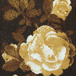 Springrose Brown B mosaic | Glass mosaics | Bisazza