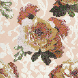Fleurs Rosa mosaic | Glass mosaics | Bisazza