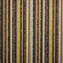 Stripes Fall mosaic | Mosaïques en verre | Bisazza