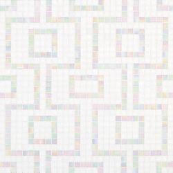 Labirinto Bianco mosaic | Glass mosaics | Bisazza