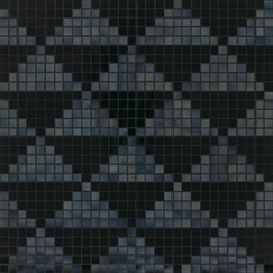 Giza Nero mosaic | Glass mosaics | Bisazza