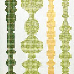Columns Green B mosaic | Glass mosaics | Bisazza