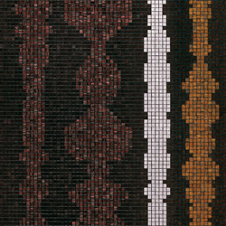 Columns Brown B mosaic | Glass mosaics | Bisazza
