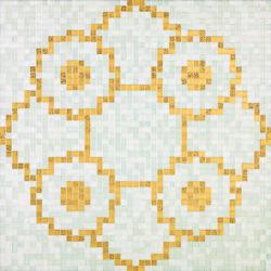 Linear De Rosas Blanco mosaic | Glass mosaics | Bisazza